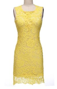 Cross Body Sleeveless Shorts - Yellow kr1489.00