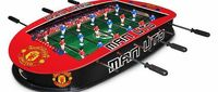 Manchester United F.C. Manchester United 3ft Stadium Football Table MANCHESTER UNITED F.C. Stadium Football Table * 9 Players per team * Sturdy construction * Grass effect printed pitch * Score indicator on each side * Complete with two p (Barcode EA...