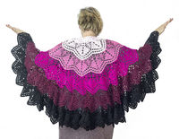 Plus size wool shawl as Christmas gift for wife, oversized lace cape for big women $110.00