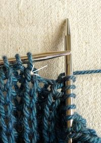 Fisherman's Rib - with tutorial for knitting and purling into the stitch below..