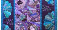 Crazy patchwork wall quilt. 26 x 32 inches
