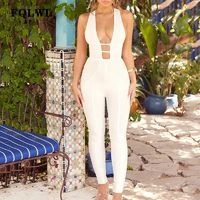 Price: $33.97 | Product: Elegant Sexy Women's V Neck Hollow Out Backless White Party Jumpsuit | Visit our online store https://ladiesgents.ca