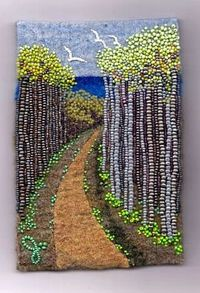 Painting with beads
