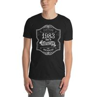 35 years old Made In Born in 1983 Birthday T-shirt $19.99