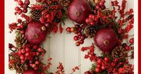 What a festive, natural Christmas Wreath
