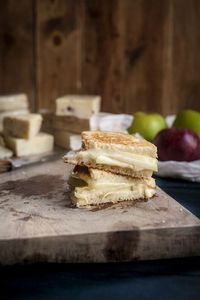 Smoked Cheddar Grilled Cheese with Granny Smith Apple & Dijon Mustard