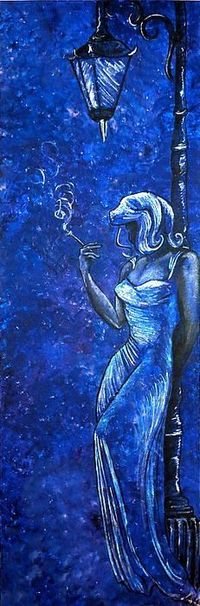 Blue art. I love the mood in this painting - it's sad and mysterious and, of course, beautiful.