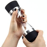 Hourglass Design Stainless Steel 2 in 1 Manual Salt Pepper Mill Grinder $15.99