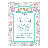 Hello Spring Floral Easter Invitation