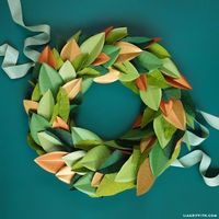 DIY your own holiday door wreath using our tutorial for a gorgeous magnolia leaf wreath with shades of green & gold. Browse all of our decor for options!