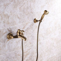Antique Copper Wall Mounted Single Handle Two Holes Shower Faucet.jpg