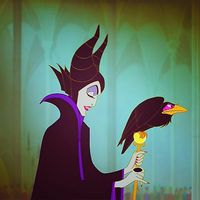 "Fun fact: Maleficent and Lady Tremain are voiced by the same actress. Both villains also have a beloved pet with names that mean ""devil."" Maleficent's raven is named Diablo and Lady Tremain's cat is named Lucifer."