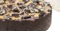 Peanut butter brownie chunk cheesecake