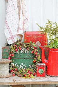 Sprinkle small fresh wreaths around your home for the lovely sights and smells of the seasons! VIBEKE DESIGN