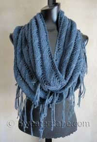 Sophisticated Boho Scarf pattern - going to make this in Blue Sky Alpaca Silk - color coral. So ready for spring.