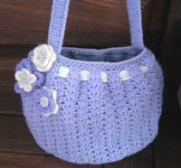Cute bag--free pattern Crochet Knit Mesh Hand Shoulder Market Tote Bags & Purse