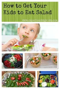 Do your kids fight eating salad? Great tips and recipes to get your kids to be salad lovers.