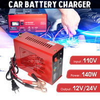 110V Full Automatic Electric Car Lead Acid Battery Charger 12V/24V Output