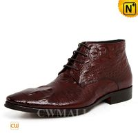 Mens Leather Boots | CWMALLS® New York Embossed Leather Dress Boots CW719002 [Global Free Shipping]