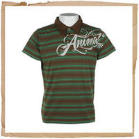 Animal Pacari Jnr Polo Green Animal Jnr Pacari Polo Shirt 100% Cotton 180gm Single Jersey With Carbon Suede Brush Stripe Polo Shirt Front And Back Print Three Button Neck Plain Collar Animal Code: WP219 D19 http://www.comparestoreprices.co.uk//animal-...