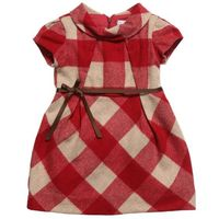 Mayoral Red Wool Check Dress