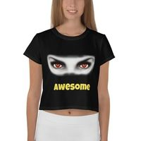 All-Over Print Crop Tee - Awesome Cute Eyes $31.00