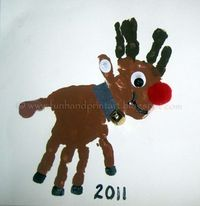 I saw this Double Handprint Rudolf/Reindeer Craft on Pinterest from Reading Confetti and knew that I had to make one with my little guy- he loves reindeer! Here is our take on it, be sure to check their's out too since it is a little different My so...
