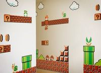 Mario Wall re-stickable vinyl wall decal. Cool! I just found a great present for my nephew. I'd put this on my wall but since I'm an adult, I'll probably be laughed at. :/