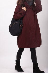 Red Wine hoodie Padded Winter Coat