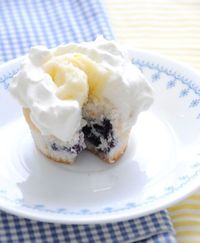 Lemon-Blueberry Cupcakes with Egg-Free Lemon Curd   shared on Creature Comforts Blog