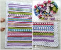 Fantasy Blanket by Lanas de Ana:...great stash buster and stitch sampler .. free pattern 'Teresa Restegui http://www.pinterest.com/teretegui/ '
