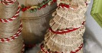 Create these adorable and simple burlap Christmas trees using supplies you already have in your craft room to decorate your home for the holidays.