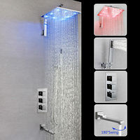 12inch LED Chrome Wall Mounted Brass Valve Shower Faucet.jpg