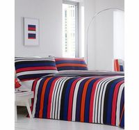 Bhs Carnaby Stripe Essential Bedding Set, multi Liven up your bedroom with a bright bedding set. Our essentials printed bedding range is now made using a new and improved quality 50/50 polycotton as well as becoming better value.Fibre Composition: http://...