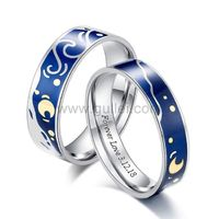 Gullei.com Custom Matching Promise Rings Gift for Couple
