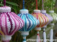 Crochet pdf pattern CHINESE LANTERN by by ATERGcrochet on Etsy,