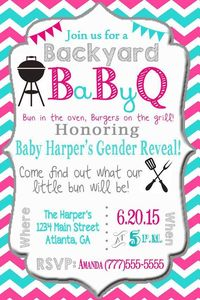 Baby BBQ Gender Reveal Baby Shower Digital by SweetSimplySouthern