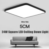 24W Square LED Ceiling Down White Light Panel Wall Bathroom Lamp Fixture 40*40cm