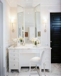 Master Bath Vanity...not sure who designed this but it's gorgeous.