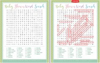 Baby shower word search Free printable baby shower games