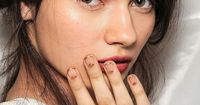 NAIL INSPIRATION: GOLD HALF-MOON FRENCH MANICURE - Le Fashion