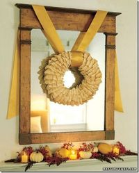 Corn Husk Wreath, Thanksgiving Mantel Decor Ideas #thanksgiving #mantel #decor