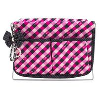 Jacki Design Large Retro Plaid Magazine Holder, Hot Pink @The Lavender Lilac