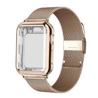 Stainless Steel Milanese Loop band with case For Apple Watch Series 4/3/2/1 38mm 42mm 40mm 44mm Strap $33.99