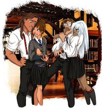 26 Disney Characters Reimagined As Hogwarts Students...love that so many end up being Hufflepuff