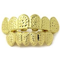 Gold Plated Top & Bottom 6 Tooth Inner Cut Grillz Set £1.95