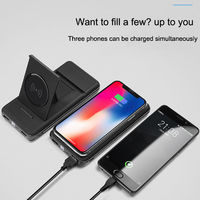 Bakeey 2 in 1 Qi Wireless Charger with Holder 10000mAh Power Bank Case for Samsung Xiaomi Huawei
