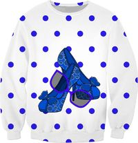 Fashion On Blue Sweatshirt $59.95