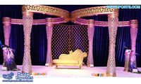 South Asian Wedding Crystal Butterfly Mandap