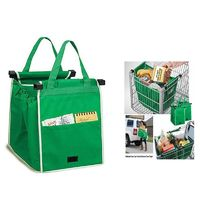 Reusable Shopping Cart Bags for Grocery Shopping in Supermarket Foldable Shopping Bags, Green -DROPSHIP $19.99